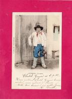 Costumes, Folklore, AUVERGNE, UN Paysan, 63 Puy De Dôme, 1902, (P. Juliot) - Costumes
