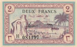 Tunisie Billet De 2 Francs  Neuf Pas De Pli Pas De Trou - Tusesië