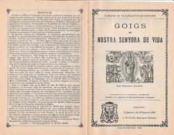 1899 GOIGS De NOSTRA SENYORA DE VIDA - Chant Religieux Catalan Avec Paroles Et Musique - Villefranche De Conflent - Documentos Históricos