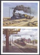 Md_ Liberia 1996 - Mi.Nr. Block 142 - 148 - Postfrisch MNH - Eisenbahnen Railways Lokomotiven Locomotives - Trains