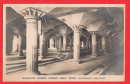 GUINNESS BEER   BREWERY IRELAND EIRE  DUBLIN BASEMENT ROBERT ST MALT STORE   RP - Publicidad