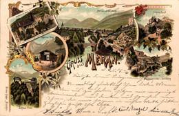 78597- Litho Gruß Aus Meran Südtirol Italien 1896 - Merano