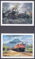 Md_ Liberia 1994 - Mi.Nr. Block 133 - 138 - Postfrisch MNH - Eisenbahnen Railways Lokomotiven Locomotives - Trains