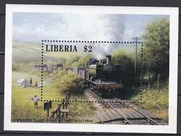 Md_ Liberia 1988 - Mi.Nr. 1417 Block 116 - Postfrisch MNH - Eisenbahnen Railways Lokomotiven Locomotives - Trains