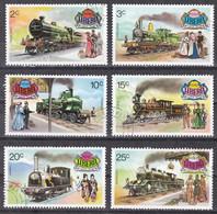 Md_ Liberia 1973 - Mi.Nr. 869 - 874 + Block 66 - Gestempelt Used - Eisenbahnen Railways - Trains