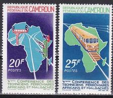Md_ Kamerun Cameroun 1967 - Mi.Nr. 495 - 496 - Postfrisch MNH - Eisenbahnen Railways - Trains