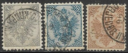 Bosnia & Herzegovina  1879   Sc#2, 7-8   3 Diff   Used   2016 Scott Value $14.35 - Bosnien-Herzegowina
