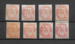 Lot Timbres Neufs** Type Blanc 109 Yt Orange A Rouge - Nuovi