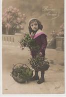 ENFANTS 1380 : Bonne Année 1915 , Avec Du Gui  ; édit. Mosel N° 1734 - Andere