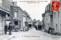 76   ENVERMEU CIRCUIT DE LA SEINE INFERIEURE 1908  TRAVERSEE D'ENVERMEU - Envermeu