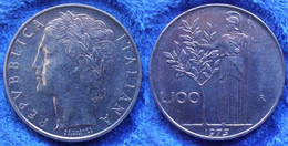 ITALY - 100 Lire 1975 R KM# 96.1 Republic (1946-2001) - Edelweiss Coins - Unclassified