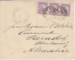 El Salvador - 3x20 C. Allegorie Brief San Salvador - Bernsdorf 1894 - El Salvador