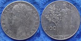 ITALY - 100 Lire 1976 R KM# 96.1 Republic Lira Coinage (1946-2001) - Edelweiss Coins - Unclassified