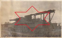 Photo 1919 SAINT-NAZAIRE - Canon De Marine De 140 Sur Voie Ferrée (A225, Ww1, Wk 1) - Saint Nazaire