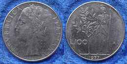 ITALY - 100 Lire 1977 R KM# 96.1 Republic Lira Coinage (1946-2001) - Edelweiss Coins - Unclassified