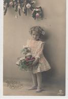 ENFANTS 1386 : Bonne Année 1915 , Fillette , Cadeaux Fruits ; édit. P M B N° 4711/3 - Andere