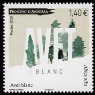 French Andorra - 2020 - Abies Alba - European Silver Fir - Mint Stamp - Ungebraucht