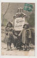 ENFANTS 1387 : Bonne Année 1914 , Fillettes Mains Dans La Mains ; édit. ? N° 607 - Andere