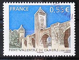 FRANCE 2008 - Cachet à Date N° 4180 - Pont Valentré à Cahors - Usados