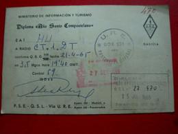QSL CARD - SPAIN - ESPAÑA - PONTEVEDRA - GALICIA AÑO SANTO COMPOSTELA - 1965 (QSL#378) - Amateurfunk
