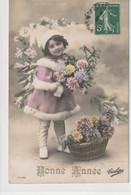 ENFANTS 1388 : Bonne Année , Fillette Fleurs ; édit. Tulipe N° 5 ° /182 - Andere