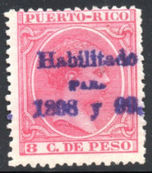 YT 165  NEUF* SURCHARGE VIOLETTE - Puerto Rico