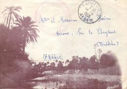 Courrier En Franchise Militaire Cachet Du 15ème B.C.A. Bataillon De Chasseurs Alpins à Tigzirt En Algérie En 1956 - Cartes De Franchise Militaire