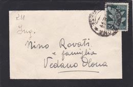 RSI - ITALIA - VEDANO OLONA  (VARESE) - BUSTA VIAGGIATA PER VEDANO OLONA (VARESE ) - Unclassified