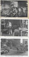 63 - THIERS - COUTELLERIE  NAVARRON AINE - USINES VANCANSON - 3 CPA ANIMEES TRES BON ETAT - Thiers