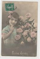 ENFANTS 1389 : Bonne Année , Fillette Roses ; édit. K N° Illisible - Andere
