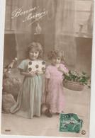 ENFANTS 1391 : Bonne Année ,deux Fillettes , Panier De Gui ; édit. S H C ?? N° 10057 - Andere