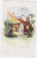 NOEL - CRECHE SYSTÈME POP-UP - 12.7 X 10.8 FERMÉE - M.D. -  N° 4.765 C - Santa Claus