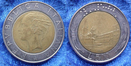 "ITALY - 500 Lire 1985 R ""Quirinale"" KM# 111 Bi-metallic - Edelweiss Coins . - Unclassified"