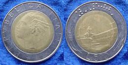 ITALY - 500 Lire 1986 R KM# 111 Bi-metallic - Edelweiss Coins - Unclassified