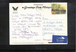 Malaysia 2002 Interesting Airmail Postcard - Malaysia (1964-...)