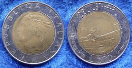 ITALY - 500 Lire 1987 R KM# 111 Bi-metallic - Edelweiss Coins - Unclassified