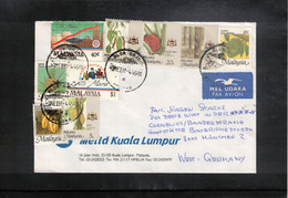 Malaysia 1991 Interesting Airmail Letter - Malaysia (1964-...)