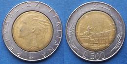 ITALY - 500 Lire 1990 R Piazza Del Quirinale KM# 111 Bi-metallic - Edelweiss Coins - Unclassified