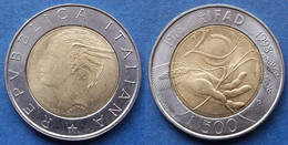 """ITALY - 500 Lire ND (1998) R """"IFAD"""" KM# 193 Bi-metallic - Edelweiss Coins - Unclassified"""