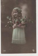 ENFANTS 1395 : Bonne Année , Fillette , Roses Houx  ; édit. Logo Un Oeil Dans Une Branche ? N° 609 - Andere