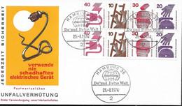 1974 Allem. Fed. Deutschland  Mi H-Bl 25 FDC Unfallverhütung - FDC: Sobres