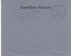 Préfecture Des Vosges , Flamme 5 Lignes Ondulées ,de 1986  ( Enveloppe électorale ) - Maschinenstempel (Werbestempel)