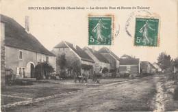 BROYE-les-PESMES - (Haute-Saône) - La Grande-Rue Et Route De Talmay- Edition Teulet. Circulée En 1908. Bon état. - Sonstige Gemeinden
