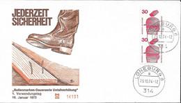 1974 Allem. Fed. Deutschland  Mi 698 DO / DU   FDC Unfallverhütung - FDC: Sobres