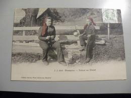 A475  . CPA. SUISSE. VS.VALAIS. SION. Champery. Retour Au Chalet. Beau Plan Animé. Ecrite & Voyagée 1908 - VS Wallis
