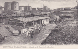 75 PARIS XIII - Société Des Charbonniers - Chantier De La Gare De Paris-Gobelins - Wagons- (lot Pat 132) - Straßenhandel Und Kleingewerbe