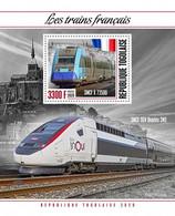TOGO 2020 - French Trains, Mont-Saint-Michel Abbey S/S. Official Issue. [TG200330b] - Abbazie E Monasteri