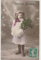 ENFANTS 1401 : Bonne Année , Fillette Bouquet De Houx ; édit. ? - Andere