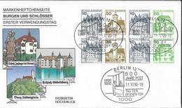 1990 Allem. Fed. Deutschland  Mi H Blatt 27 II Letterset   FDC Burgen Und Schlösser - FDC: Sobres
