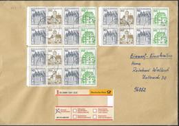 1981 Allem. Fed. Deutschland  Mi H Blatt 27 II Letterset  Einschriebebrief  Burgen Und Schlösser - FDC: Sobres